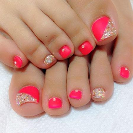 Easy Toenail Design, Nail Toe Pedicures Art