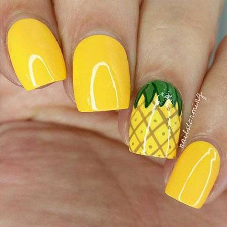 Nail Summer Yellow Nails