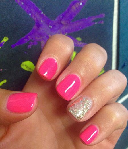 Summer Nail Shellac Manicure