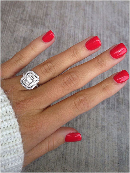 Nails Red Gel Nail
