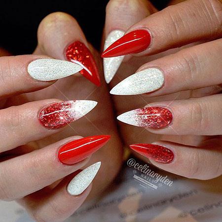 Nail Nails Red Christmas