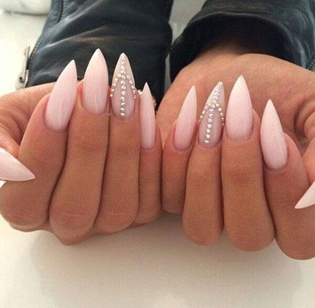 Acrylic Nail Design with Glitter, Nails Nail Stiletto Nailart