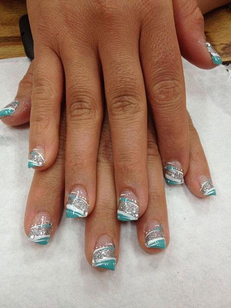 Nail Teal Acrylic Gel