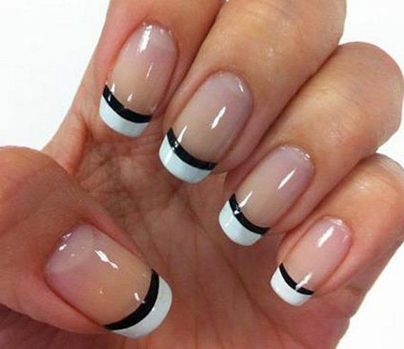 French Manicure Nail Black