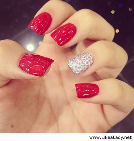 Nails Nail Red Fun