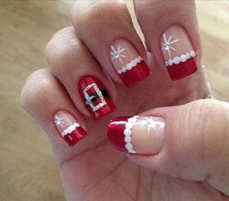 Christmas Nails Nail Santa