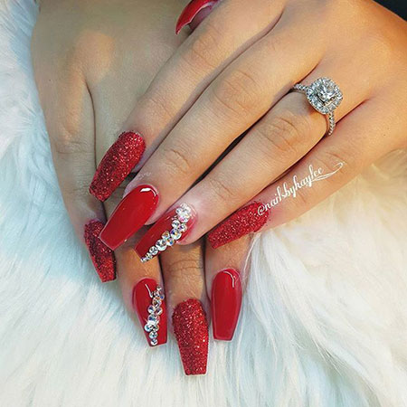 Red Nail Nails Candy