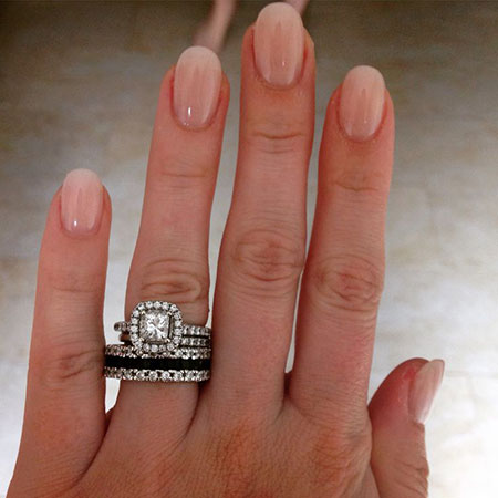 Oval Shaped Natural Nails, Ring Engagement Oval Pink