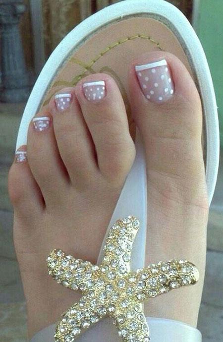 Chic French Nails on Feet, Nail Toenail Easy Ideas