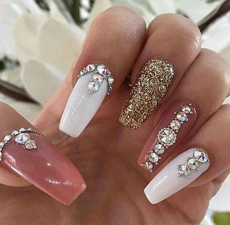 20 Rhinestone Nail Designs Best Nail Art Designs 2018