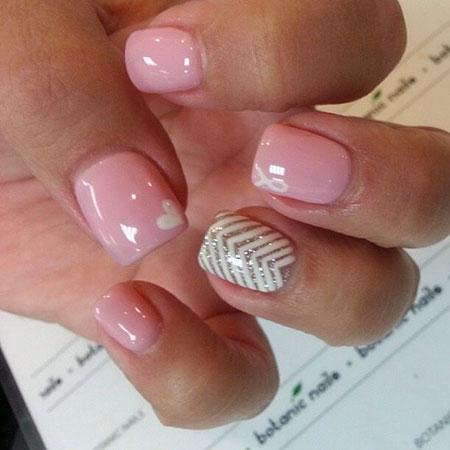 Nail Pink Shellac Manicure
