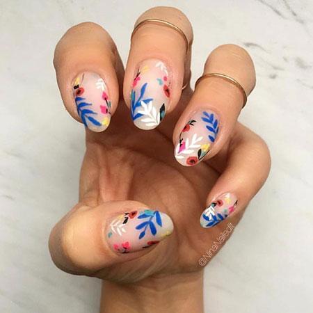 Nail Nails Art Blue