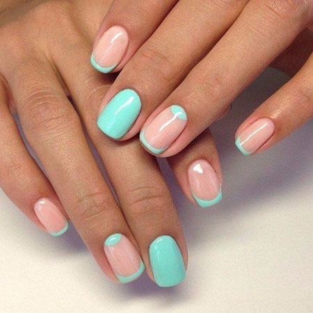Best Mint Manicure on Short Nails, Nail Manicure Design Nails