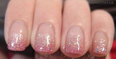 Glitter Ombre Nail Pink
