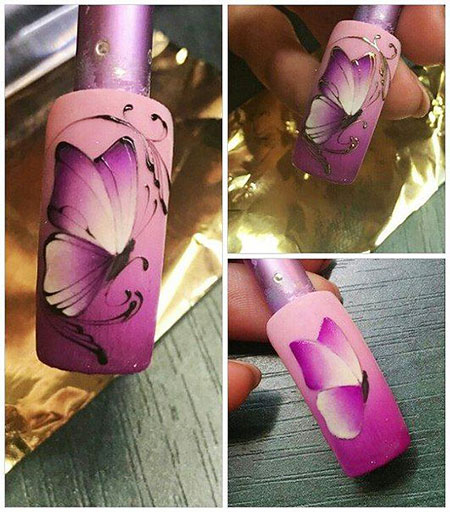 Manicure Butterfly Nageldesign University