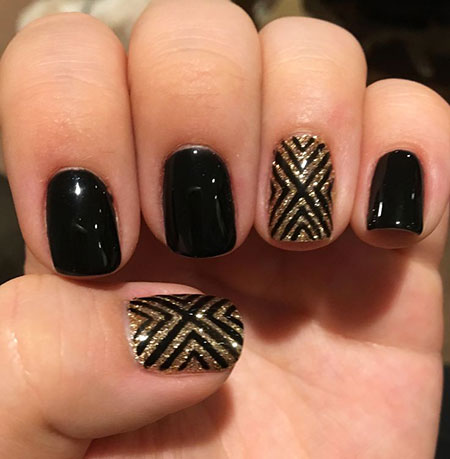 Black Gold Manicure