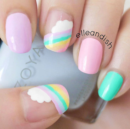 Rainbow Easy Pastel Summer