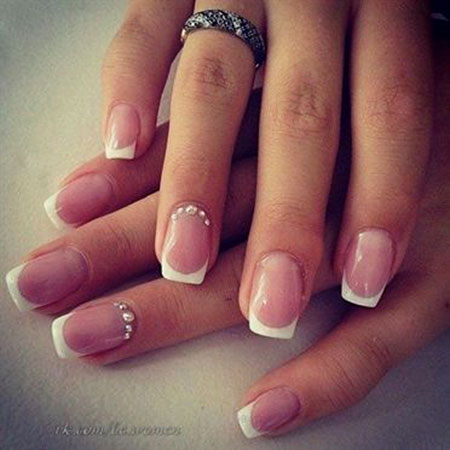 French Manicure Wedding Ideas