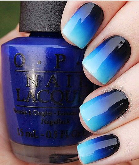 Ombre Blue Glaze Polish