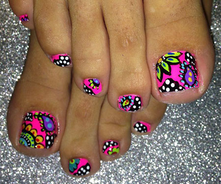 Toe Funkytoes Pedicures Decoradas