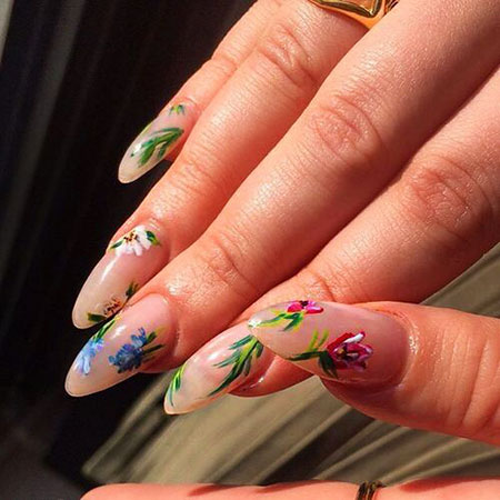 Spring Style Floweral Manicure