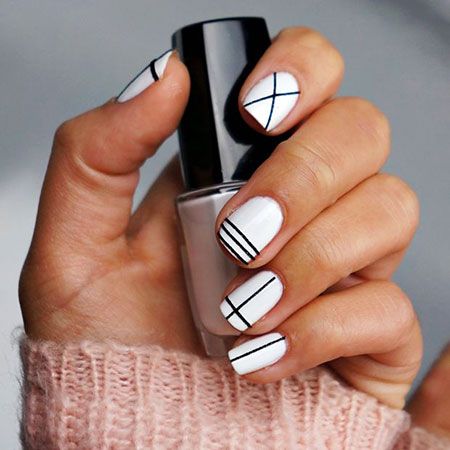 Manicure White Cool Cute