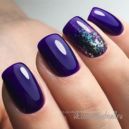 Purple Manicure Flowers Abstract