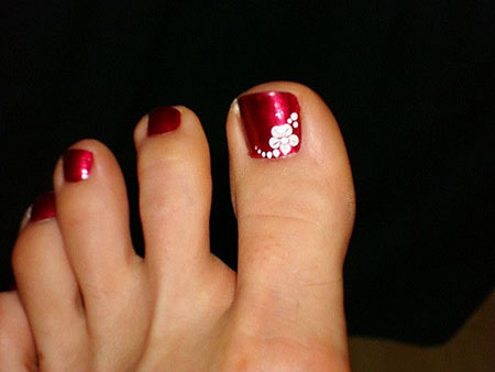 Toe Flower Pedicure Photos