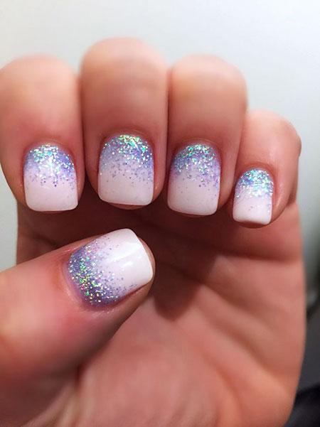 Manicure Glitter Účesy Vlasy