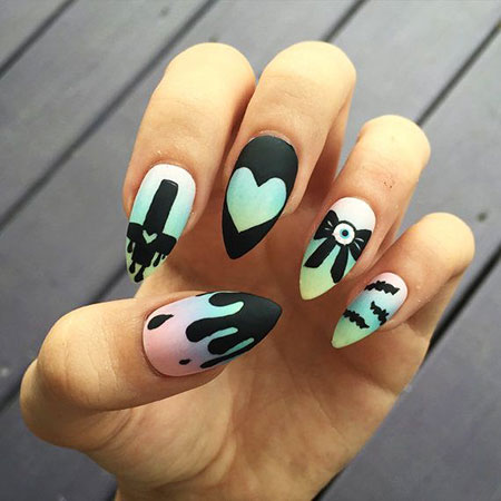 Pastel Manicure Las Halloween