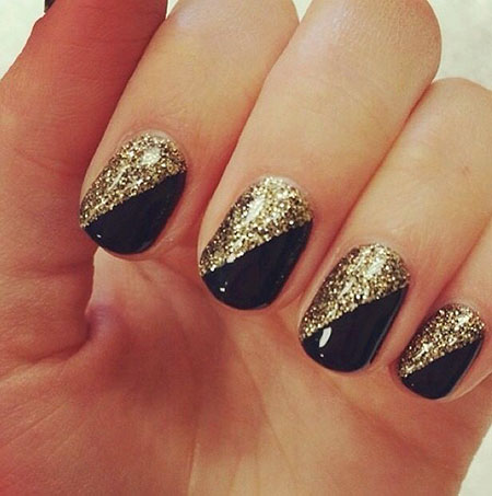 Glitter Gold, Gold Black Glitter
