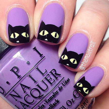 Halloween Cat Nails, Halloween But Cute Ideas