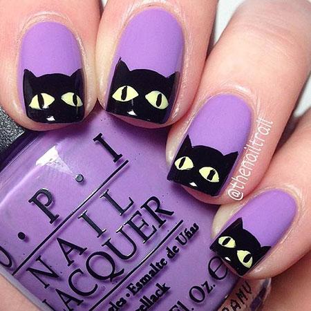 Halloween Cat Nails, Halloween But Cute Ideas