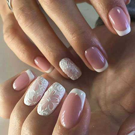 Natural Colored, Manicure Gorgeous Wedding Natural