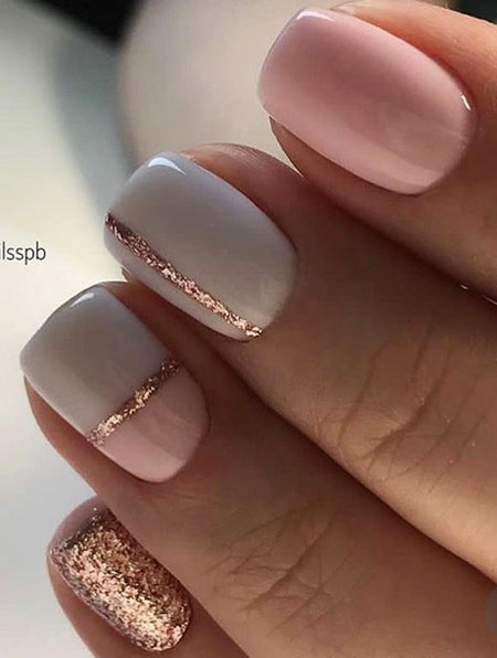 Rose Gold Pink, Manicure Rose Gold Pink