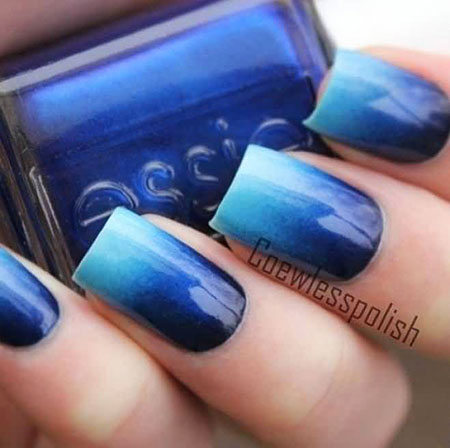 Blue Ombre Polish Navy