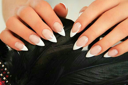 Stiletto Manicure French Trendy