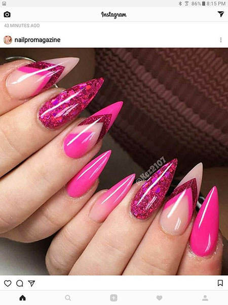 Stiletto Manicure Ongles Unghie