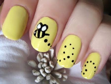 Gel Manicure Pikachu Yellow