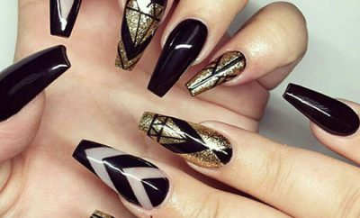 Black And Gold Nail Designs Best Nail Art Designs 2018