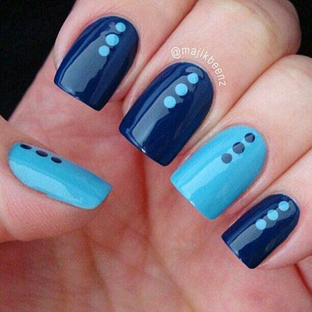 Dot Manicure Blue Dots