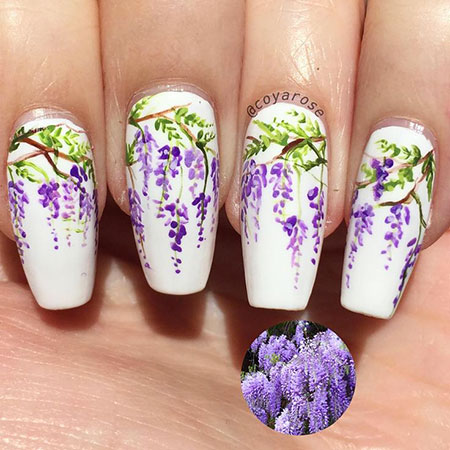 Floral Manicure Spring Floweral