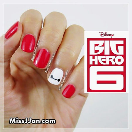 Disney Nail Art, Disney Easy Big Inspired