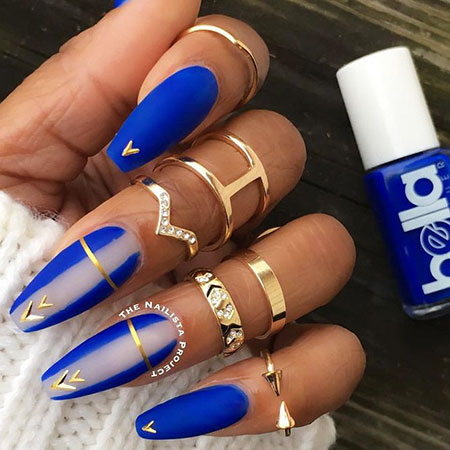 Royal Blue Nails, Pretty Blue Great Photo