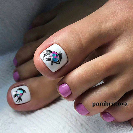 Chic Toe Nails, Toe Hawaiian Pedicures Pedicure