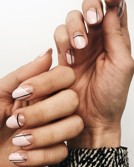 Geometric Nail Art, Manicure Gel Polish Geometric