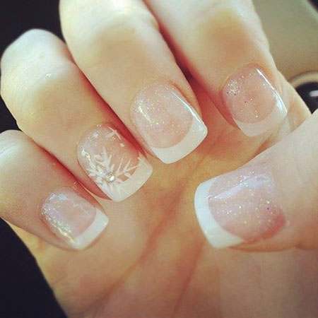 Wedding French Nails, Manicure Wedding Ideas Winter