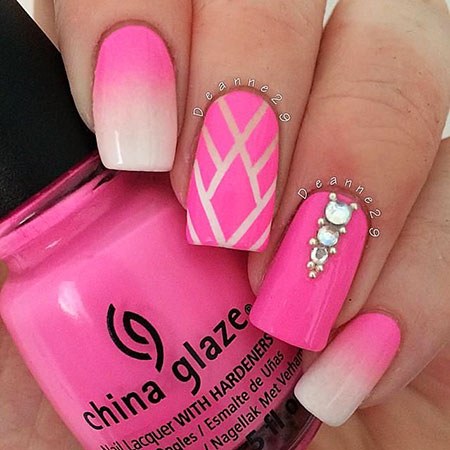 Ombre Pink, Tape Ombre Striping Pink