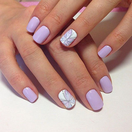 Manicure Butterfly Purple Педикюр