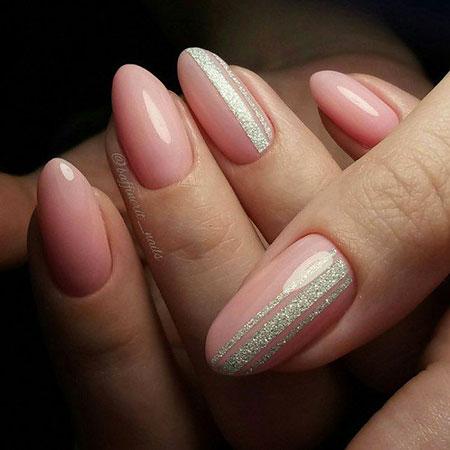 Manicure Olive Simple Glitter